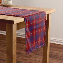 Old Scottish Clan Hamilton Tartan Plaid Short Table Runner