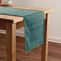 Old Scottish Clan Irvine Irwin Tartan Plaid Short Table Runner