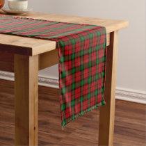 Old Scottish Clan Kerr Tartan Plaid Short Table Runner