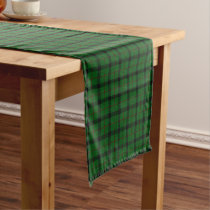 Old Scottish Clan Kincaid Tartan Plaid Short Table Runner
