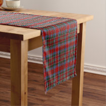 Old Scottish Clan MacBean MacBain Tartan Plaid Short Table Runner