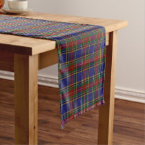 Old Scottish Clan MacBeth Tartan Plaid Short Table Runner