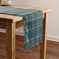 Old Scottish Clan MacDowall McDowell Tartan Plaid Short Table Runner