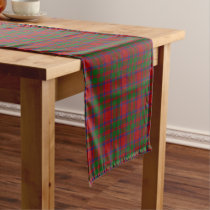 Old Scottish Clan MacKintosh Tartan Plaid Short Table Runner