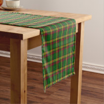 Old Scottish Clan MacMillan Tartan Plaid Short Table Runner