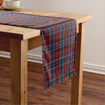 Old Scottish Clan MacTavish Tartan Plaid Short Table Runner