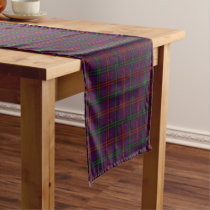 Old Scottish Clan Montgomery Tartan Plaid Short Table Runner