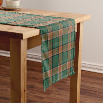 Old Scottish Clan Pollock Tartan Short Table Runner