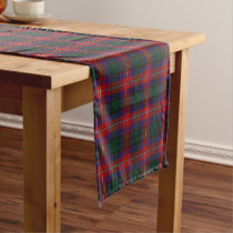 Old Scottish Clan Rattray Tartan Short Table Runner