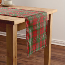Old Scottish Clan Scott Tartan Short Table Runner