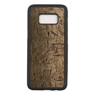 Old scratched cuted metal textures carved samsung galaxy s8 case