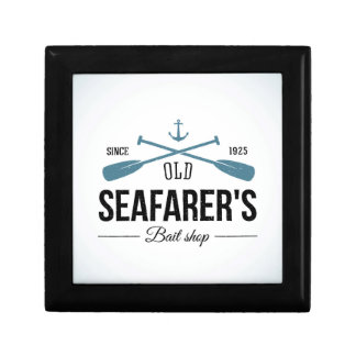 Old Seafarers Bait Shop Small Square Gift Box