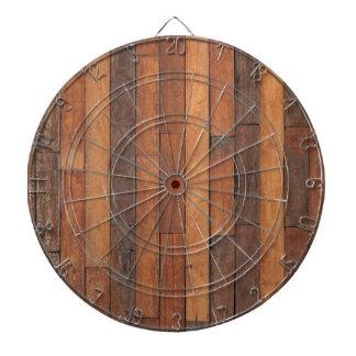 Old Shabby Wood Flooring Dartboard
