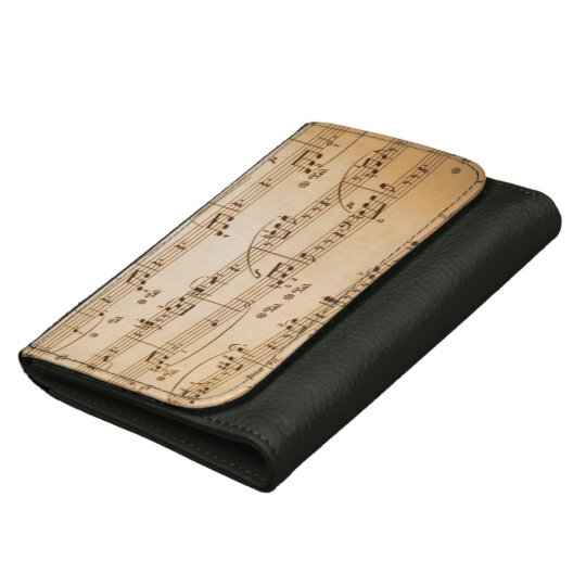 Old Sheet Music Wallet