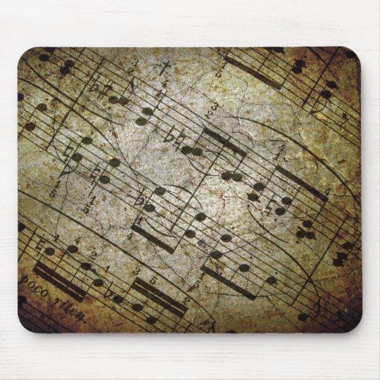 Old sheet musical score, grunge music notes mouse mat