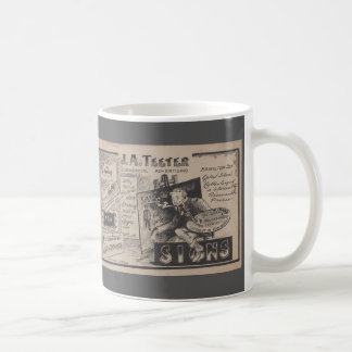 Old sign painter advertisement graphic designer coffee mug