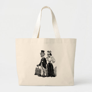 Old Skeleton Couple circa early 1900s, Mexico Large Tote Bag