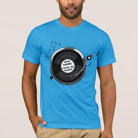 Old skool dj record turntable t-shirt