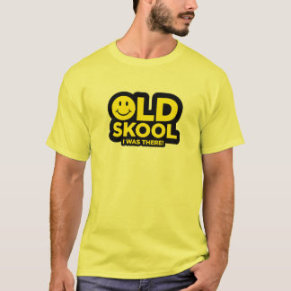 Old Skool - I Was There! Acid Smiley Rave - Yellow T-Shirt