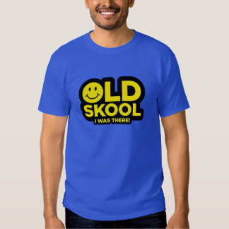 Old Skool - I Was There Shirt - Acid Smiley Blue