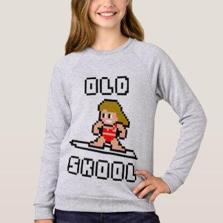 Old Skool Surfing (pale female, Blk) Sweatshirt