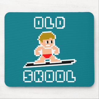 Old Skool Surfing (pale male, WHT) Mouse Mat