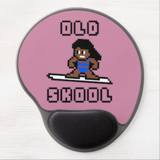 Old Skool Surfing (tanned female, Blk) Gel Mouse Pad