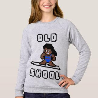 Old Skool Surfing (tanned female, Blk) Sweatshirt