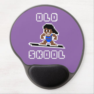 Old Skool Surfing (tanned female, WHT) Gel Mouse Pad