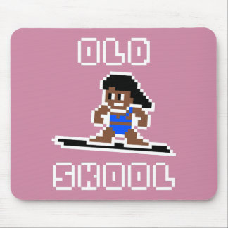 Old Skool Surfing (tanned female, WHT) Mouse Mat