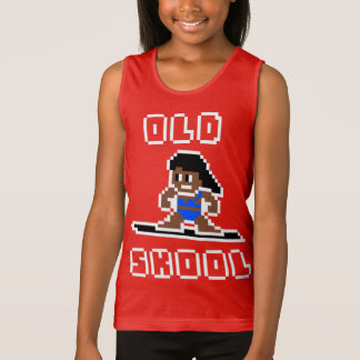 Old Skool Surfing (tanned female, WHT) Tank Top
