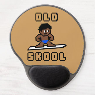 Old Skool Surfing (tanned male, Blk) Gel Mouse Pad