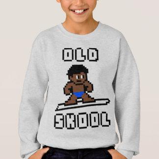 Old Skool Surfing (tanned male, Blk) Sweatshirt