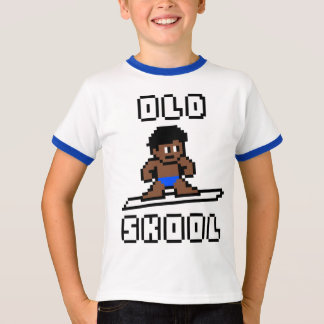 Old Skool Surfing (tanned male, Blk) T-Shirt