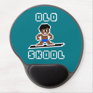 Old Skool Surfing (tanned male, WHT) Gel Mouse Pad