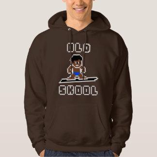 Old Skool Surfing (tanned male, WHT) Hoodie