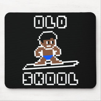 Old Skool Surfing (tanned male, WHT) Mouse Pad