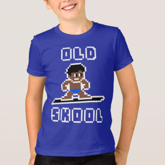 Old Skool Surfing (tanned male, WHT) T-Shirt