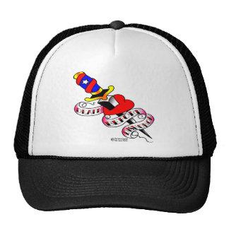 Old Skool Tattoo Dagger & Heart #1003 Mesh Hats