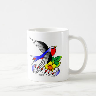 Old Skool Tattoo Swallow Coffee Mug