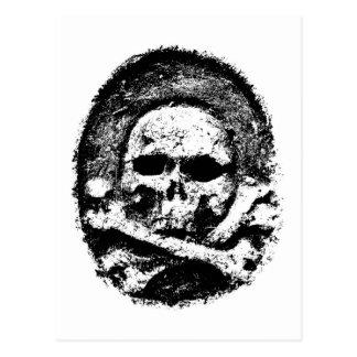 Old skull postcard
