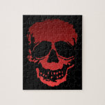 Old Skull red Jigsaw Puzzles