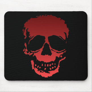 Old Skull red Mouse Mat