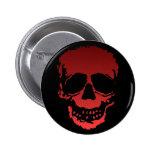 Old Skull red Pins