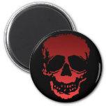 Old Skull red Refrigerator Magnet