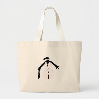 old snowman tote bags
