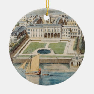 Old Somerset House on the Strand, engraved by Jean Christmas Ornament