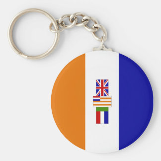 Old South African Flag Basic Round Button Key Ring