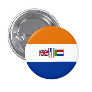 Old South African Flag - Oranje-blanje-blou 3 Cm Round Badge