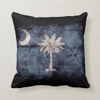 Old South Carolina Flag; Throw Pillow